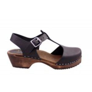 Lotta From Stockholm Shoes - Lotta from Stockholm T-Bar Black on Brown Base 38